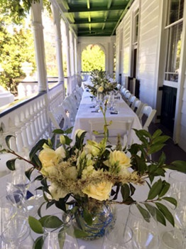 Reception on the verandah