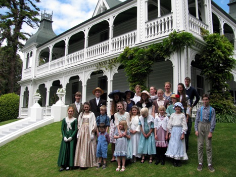 School group stepping back in time