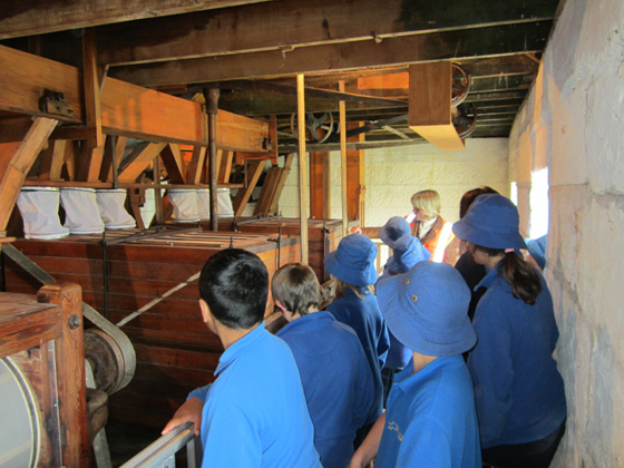 Fenwick School students at Clarks Mill