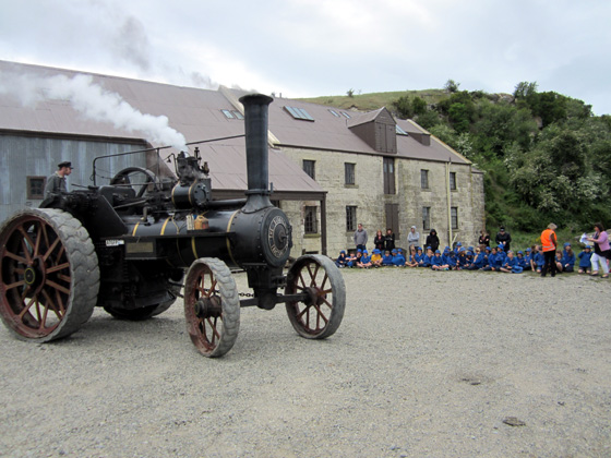 Traction engine at Clarks Mill