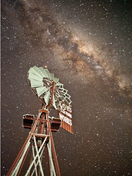 Stars over the Hayes windmill