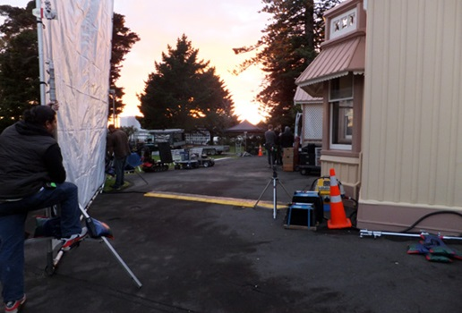 Highwic as a film set