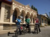 Cyclists outside Ophir Post Office