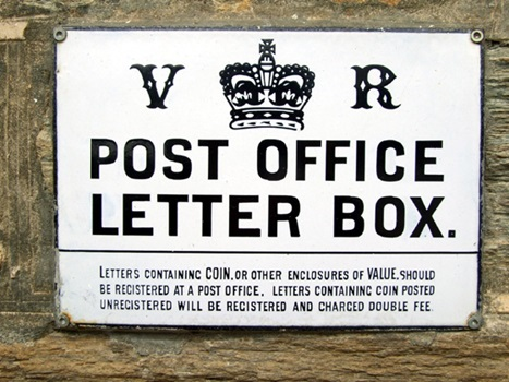 Post Office letterbox sign