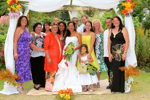 Family wedding party at Pompallier