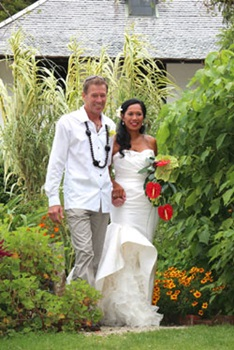 Garden wedding at Pompallier