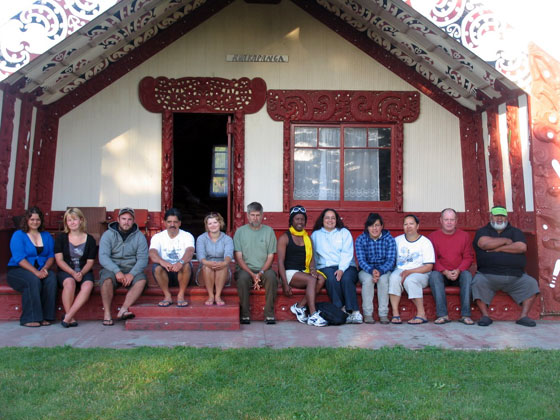 Archaeologists on the Hauiti marae