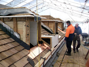 Re-roofing at Te Waimate Mission