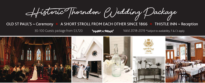 Historic Thorndon wedding package