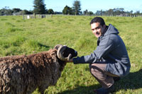 Mita and a friendly sheep