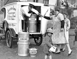 Mobile soup kitchen, 1931