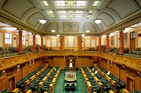 Superieur Parliament House, Wellington. Interior U2013 Debating Chamber. Image Courtesy  Of Lightingfutures.co.nz. Copyright: Lighting Futures Ltd. ...